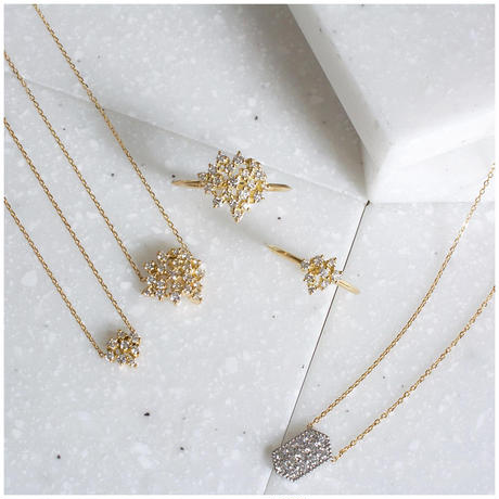 Chaton diamond necklace 7
