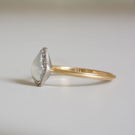 Tulle south sea pearl ring