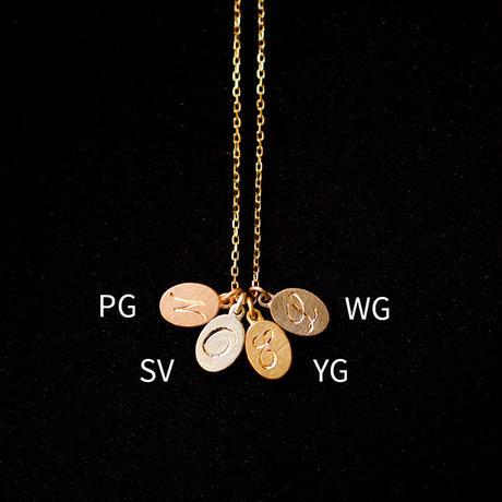 Alphabet charm oval YG