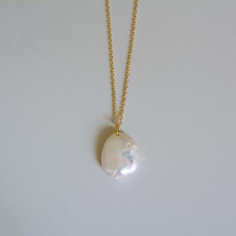 Petal pearl necklace S