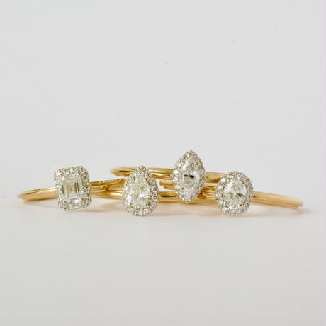 Tulle diamond ring pear