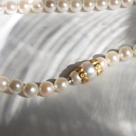 Akoya pearl semi-long necklace