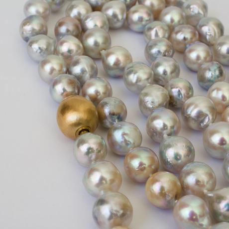 Akoya pearl long necklace