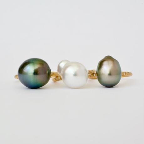 South sea pearl dia ring