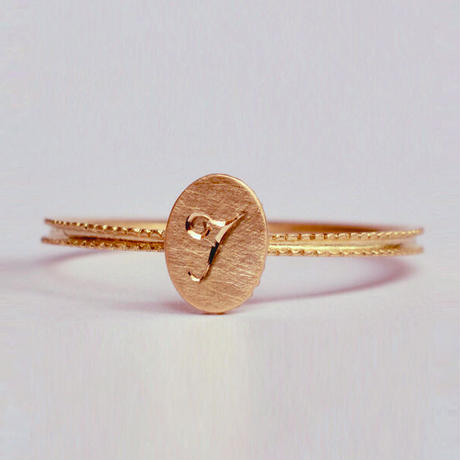 Alphabet ring oval PG