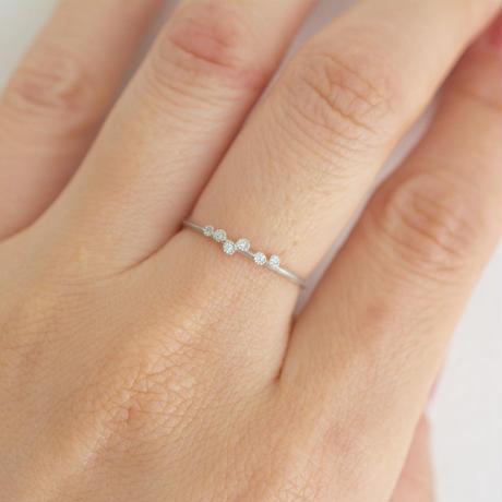 Spread diamond ring 6 PT