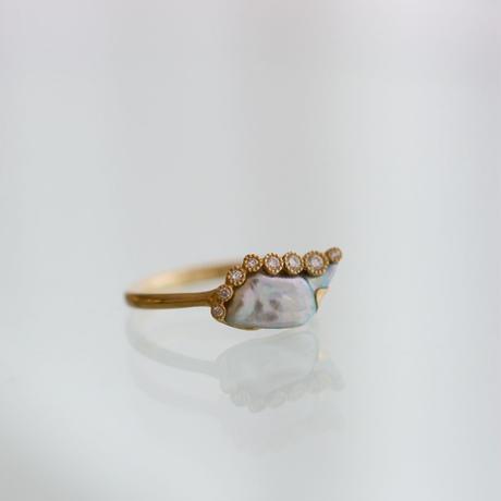Branche akoya pearl ring