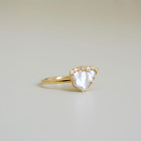 Branche south sea pearl ring