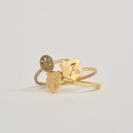 Alphabet ring shield PG