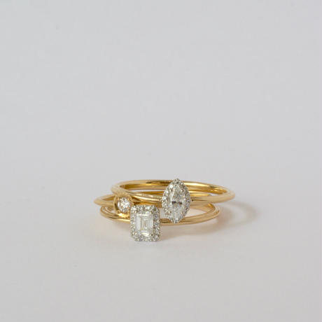 Tulle diamond ring marquise