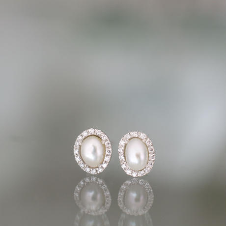 Tulle south sea pearl earrings