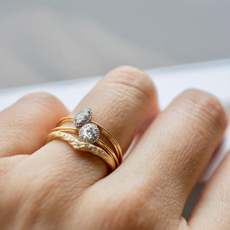 Tulle diamond ring oval