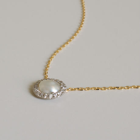 Tulle south sea pearl necklace