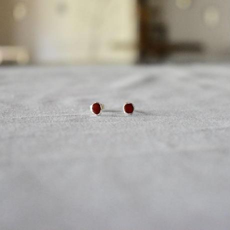 (ご予約品) mizutamari  pierce red
