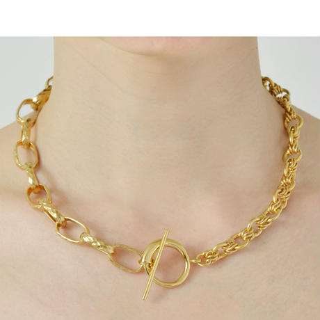 Screw Chain Necklace NC-04-BR-YG