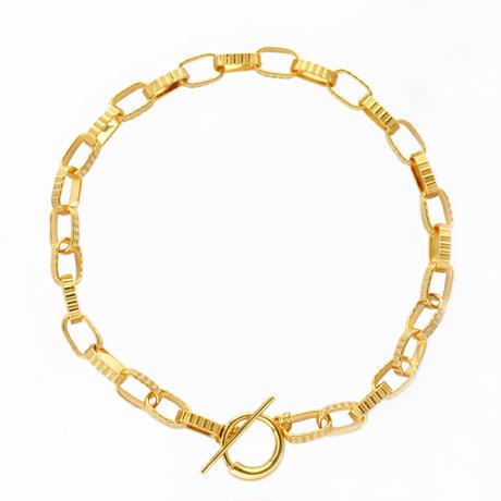 Stripe Chain Necklace NC-05-BR-YG
