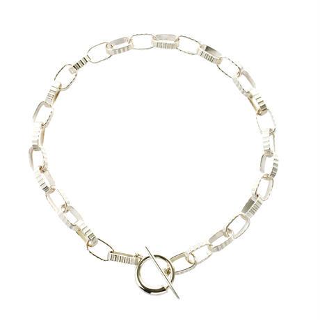 Stripe Chain Necklace NC-05-BR-S