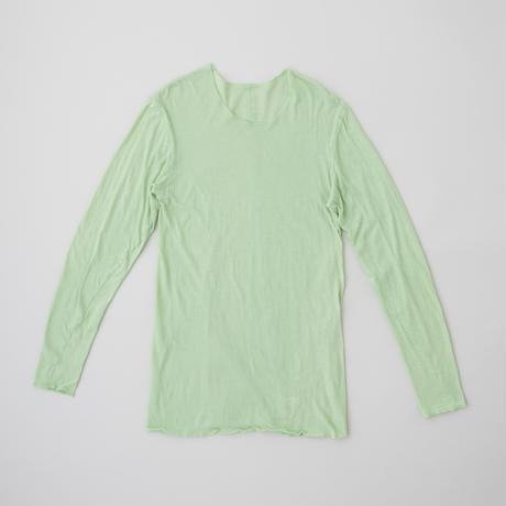 ユニセックス長袖Tシャツ-クルーネック ミントグリーン