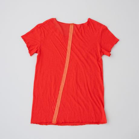 ケイト半袖Tシャツ 朱色