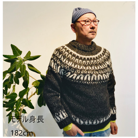 ユニセックス長袖Tシャツ-Uネック キミドリ