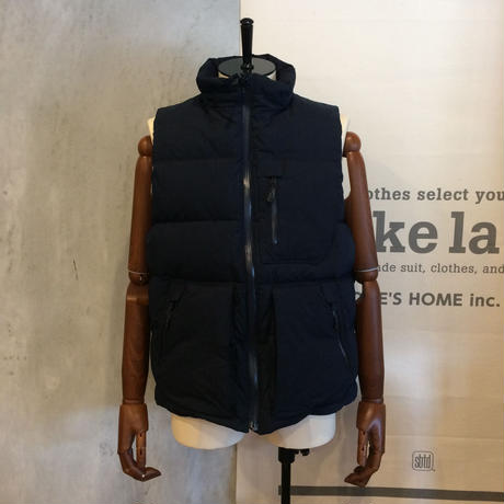 [snow peak] Indigo Cotton/Nylon Down Vest