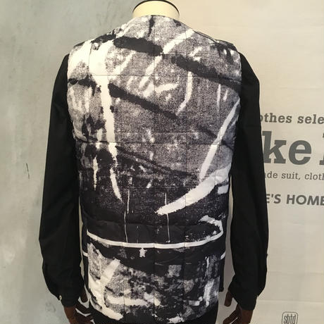 [snow peak] RY Printed Middle Down Vest