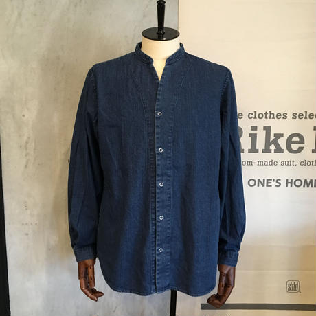 [Manual Alphabet] 8oz DENIM V-NECK SHIRTS CARDIGAN