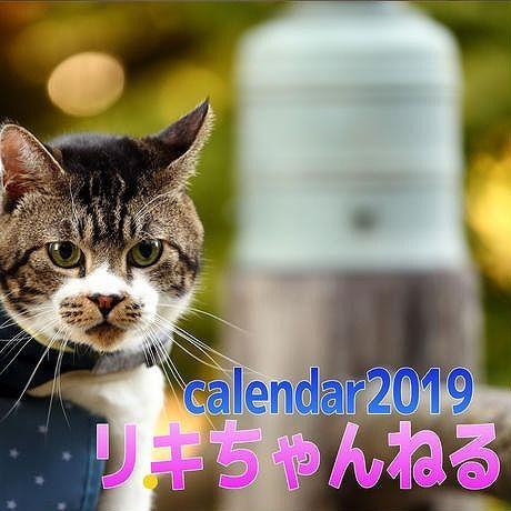 年始到着可能性あり【送料無料】2019年  リキちゃんねる 壁掛けカレンダー