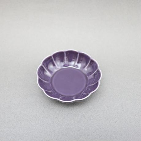 【BONCHIC】バイオレット フラワー小皿