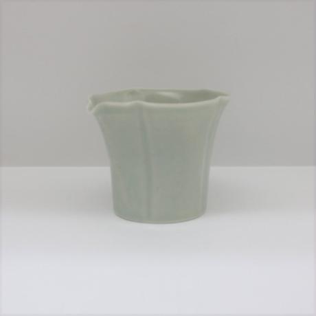 【BONCHIC】スモーキーホワイト 手造フラワー入れ子L