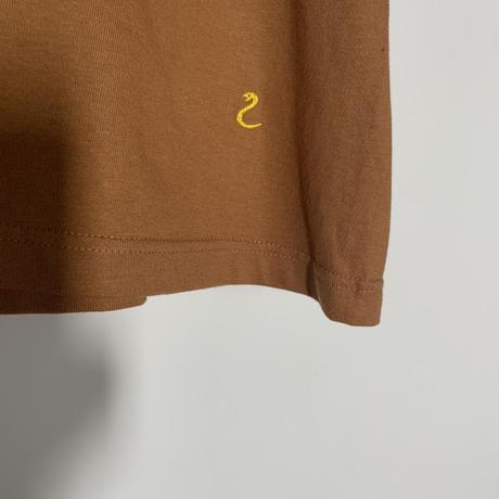【刺繍】ヘビTシャツ(ブラウン)