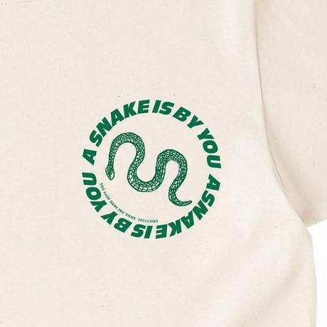 【蛇】Tシャツ(Natural)
