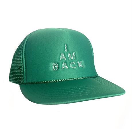 くるくる「I AM BACK」キャップ(GREEN)