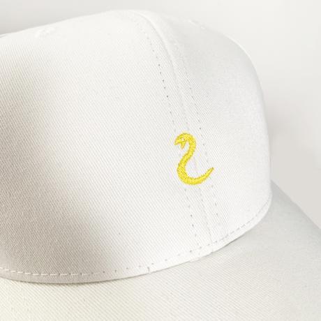 【刺繍】ヘビ キャップ(ホワイト)