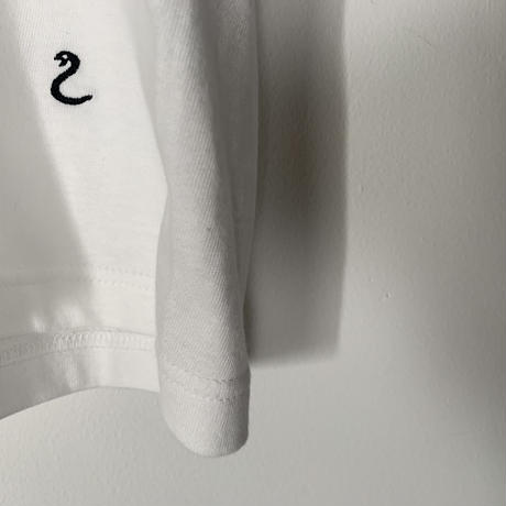 【刺繍】ヘビTシャツ(ホワイト)
