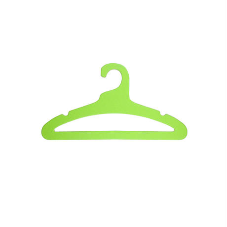 エシカルハンガー キッズ グリーン 5本セット(351609)