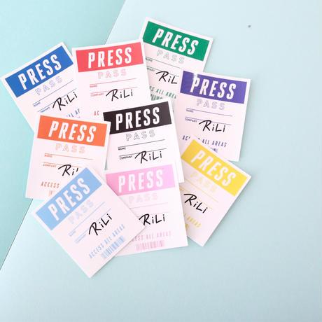 RiLi ステッカー B PRESS PASS