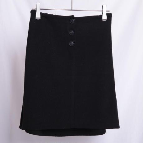 フロントボタンニットタイトスカート