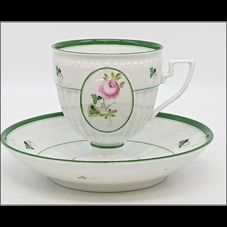 ヘレンドウィーンの薔薇/コーヒーカップ/ソーサー/アンピール