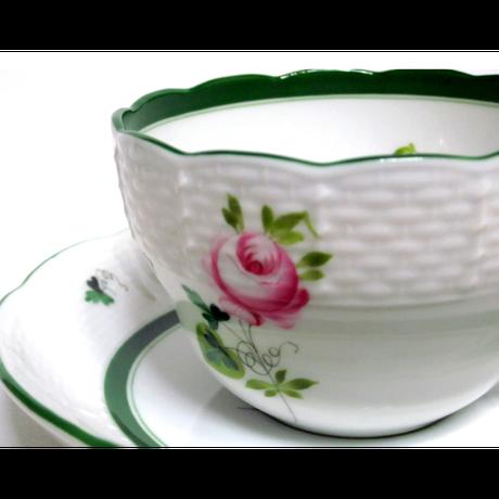 ヘレンドウィーンのバラ 兼用カップ&ソーサー