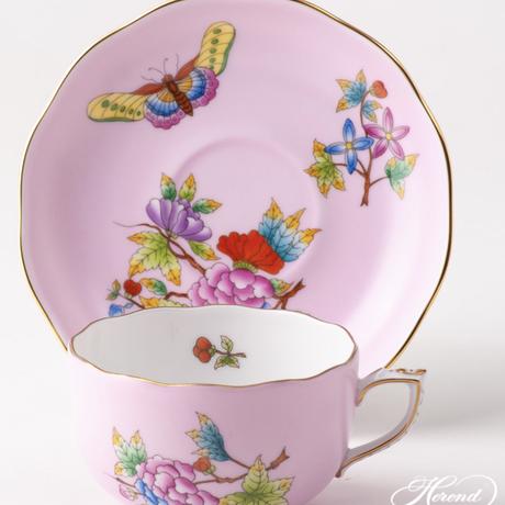 ヘレンドクイーンビクトリア/ピンク・ティーカップ