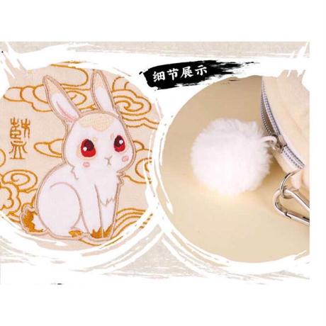 魔道祖師 ★ ミニポシェット《艾漫毛绒兔子斜挎圆包》