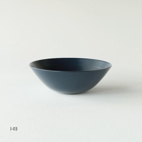 越前硬漆  刷毛目 / 平椀S R-02