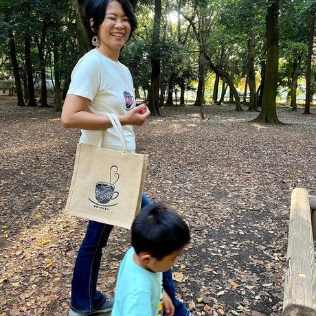 珈琲好きの人のためのジュートバッグ