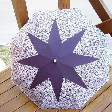 日傘(折りたたみ) 青梅波