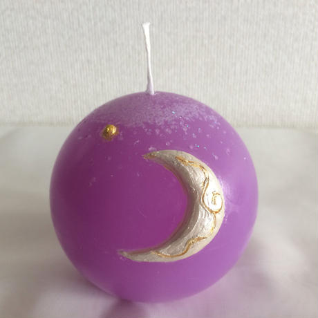 Silver moon Candle