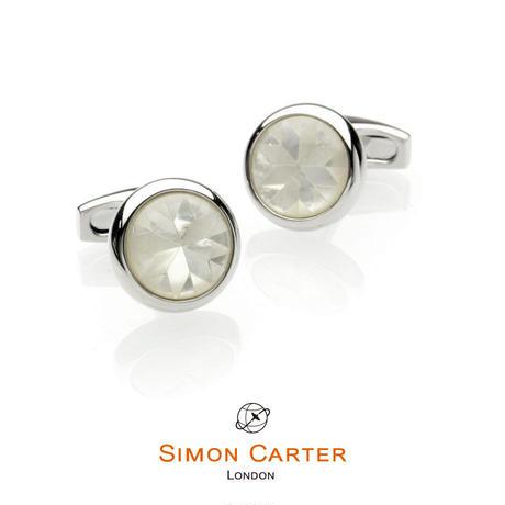 サイモンカーター - 英国製 カフリンクス カレイドスコープ 白蝶貝 267057