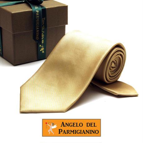 アンジェロ -「 愛が伝わる」天使のネクタイ 京都西陣産 ツイル無地 シャンパンゴールドカラー AGS05