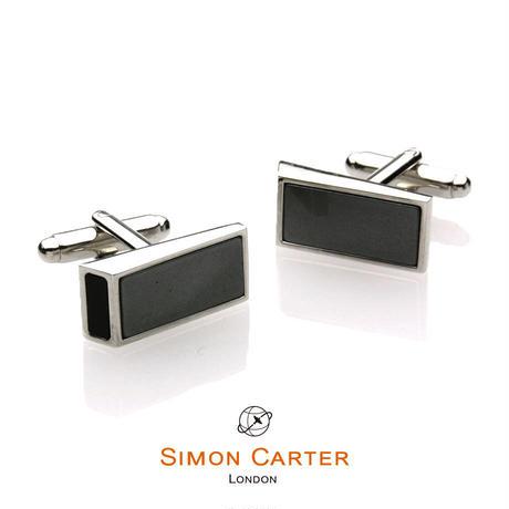 サイモンカーター - 英国製 カフリンクス ウェッジ グレー 267027