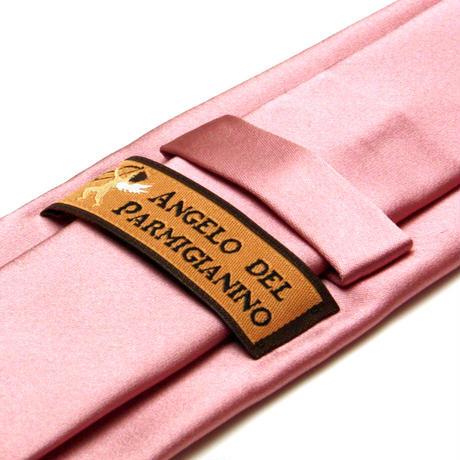 アンジェロ -「 愛が伝わる」天使のネクタイ 京都西陣産生地 シルクサテン ピンクカラー AGS04